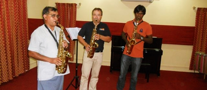 Dr. Rudolf from Austria in a spacial Saxophone classs